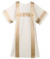 Cream Festive H-Bar Dalmatic by Theological Threads Inc