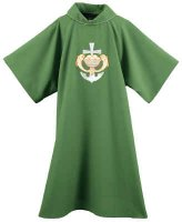 Fish, Loaves & Anchor Cross Dalmatic by Theological Threads Inc