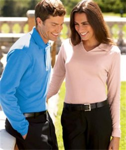 100% Egyptian Interlock Cotton - Long Sleeve Polo