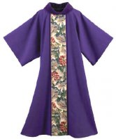 Large Leaves Tapestry w/Cowl Dalmatic by Theological Threads Inc