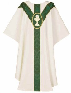 Cream St. Andrews Yoke Chalice and Host Chasuble