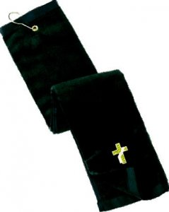 Deacon Grommeted Tri-Fold Golf Towel