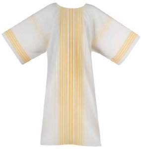 Gold Stripe Chasuble by Theological Threads Inc