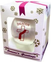 Deacon Satin Christmas Ornament