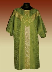 Chi-Rho Design Brocade Dalmatic from Veritas Polska