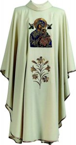 Our Lady of Perpetual Help Chasuble Hand Painted Hayes & Finch