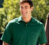 Deacon Short Sleeve Pocket Polo - Cotton/Poly with SpotShield!