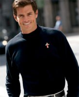 Deacon Interlock Long-Sleeve Mock Turtleneck