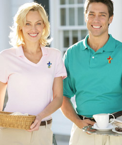 Deacon Short Sleeve Polo - 50% cotton/50% poly with SpotShield!