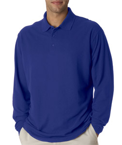 Deacon Long Sleeve Polo Easy Care Whisper Pique